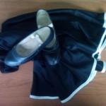 Zapatos y falda de flamenco